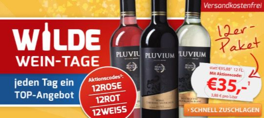 12er Paket Rot , Weiß  oder Rosé Wein für nur 35€ bei Weinvorteil