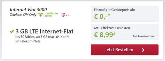 elekom LTE Internet-Flat 3GB
