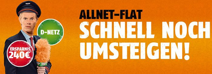 klarmobil klarmobil Allnet Flat S mit 500MB Internet im besten Netz für 10,68€ pro Monat