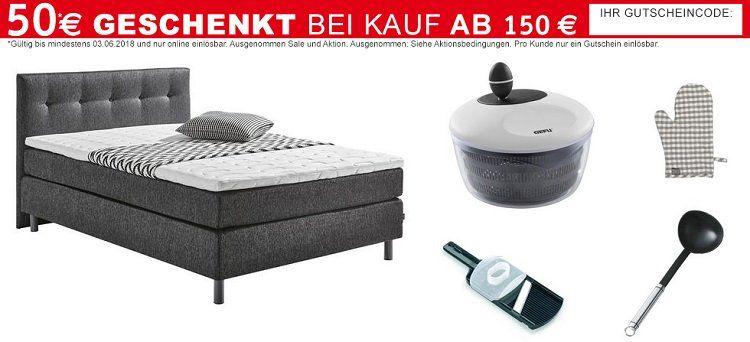 50€ XXXLutz Online Shop Gutschein ab 150€ MBW