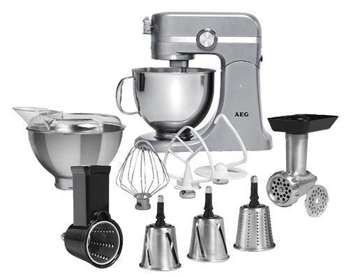 AEG UltraMix KM 4700 Küchenmaschine + umfangreiches Zubehör für 274€
