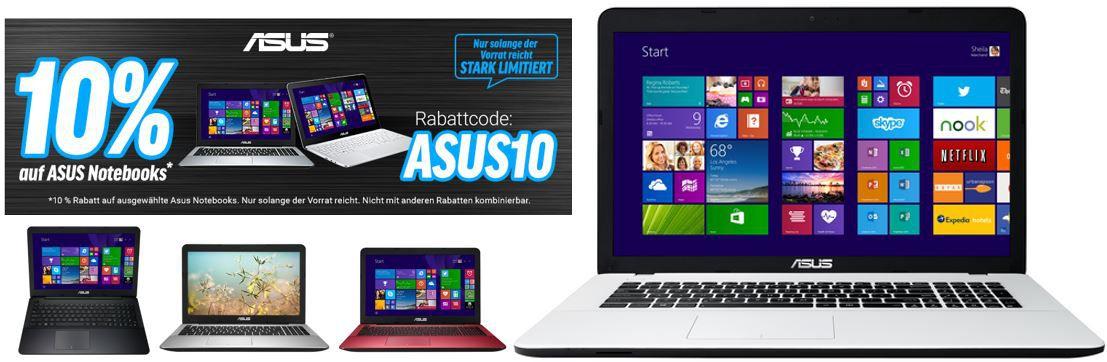 ASUS Gutschein Asus F751LJ   17,3″ Notebook mit Core i5 für 610€ in der 10% ASUS Notebook Rabatt Aktion