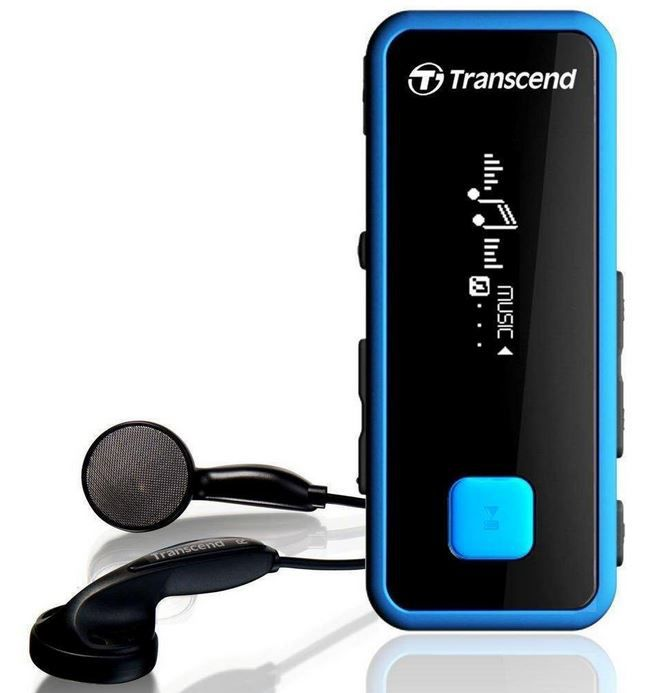Aktivity Tracker Transcend TS8GMP350B   Outdoor MP3 und Fitness Tracker mit Radio für 32,99€