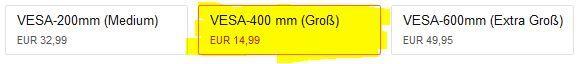 Preisfehler? Invision TV VESA Wandhalterung für 26   55 Zoll Bildschirme nur 14,99€