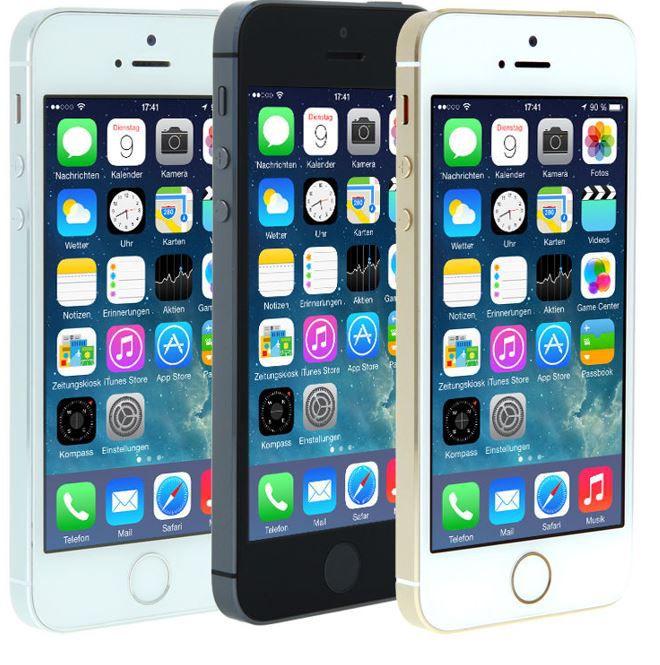 Apple iPhone 5S Smartphone 16GB (refurbished) in spacegrau, gold oder silber  für je nur 229,90€ 799ffc127c03
