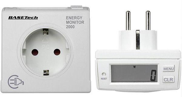 2er Set Basetech EM 2000 Energieverbrauchs Messgerät für 14,99€