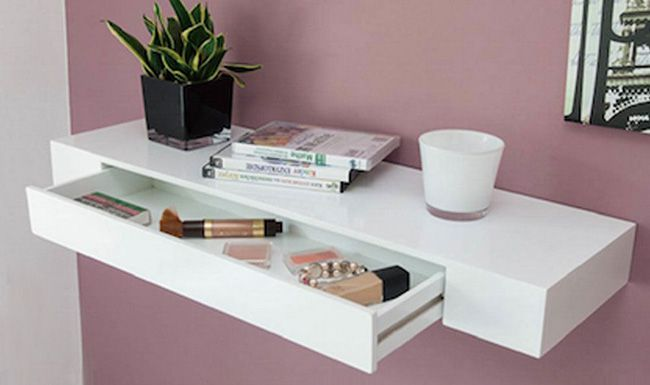 Bella Regal mit Schublade s`home Bella Regal mit Schublade in Weiß Hochglanz für 24,99€