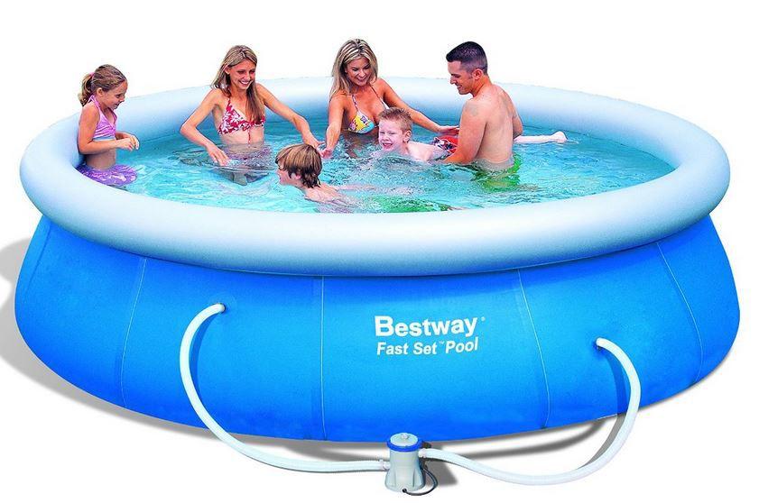 Bestway Pool Bestway 57166GS   Fast Set Pool Set mit Filterpumpe 366 x 91cm für nur 43,60€