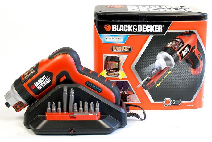 Black & Decker AS36LN QW Akku Schrauber Autoselect 3,6V Lithium Iionen für 29,99€