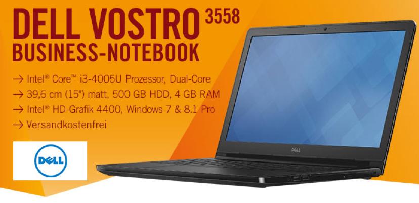 Bildschirmfoto 2015 08 03 um 09.39.11 Dell VOSTRO (15,6 Zoll) Notebook (Intel Core i3 4005U, 1,7GHz, 4GB RAM, 500GB HDD, Win 7 Pro) für 333€