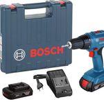 Bosch GSR 1800-LI Akku Bohrschrauber + 2x Akkus Li 1,5 Ah + Ladegerät + Koffer für 99,99€