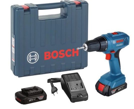 Bosch GSR 1800 LI Akku Bohrschrauber + 2x Akkus Li 1,5 Ah + Ladegerät für 88€