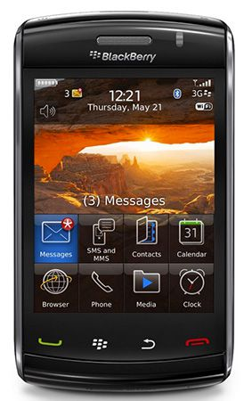 BlackBerry 9520 Storm2 für 29,99€   sehr simples BlackBerry mit bis zu 2GB Speicher