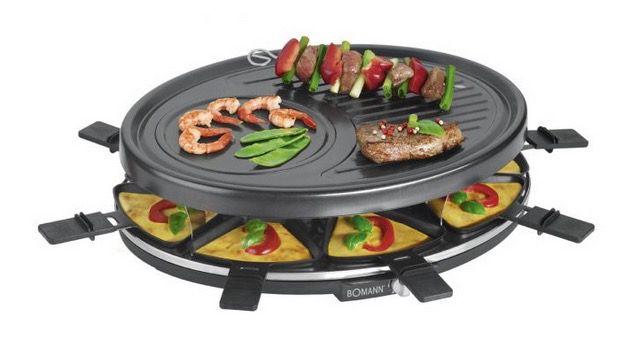 Bomann RG 2247 CB Raclette Grill mit 8 Pfannen für 14,98€