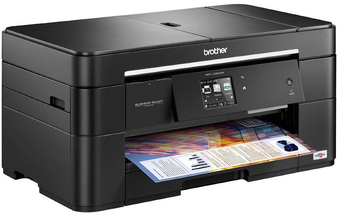 Brother MFC J5320DW   Tintenstrahl Multifunktionsdrucker Scanner, Kopierer, Drucker und Fax für 90,99€