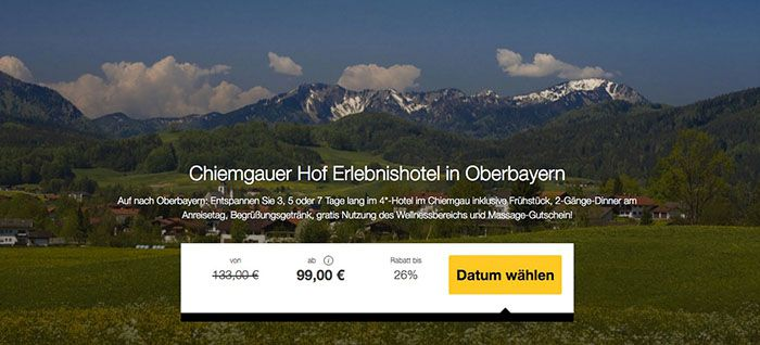 Chiemgauer Hof 3 Tage Chiemgauer Hof im 4 Sterne Hotel mit Frühstück ab 99€ p.P.