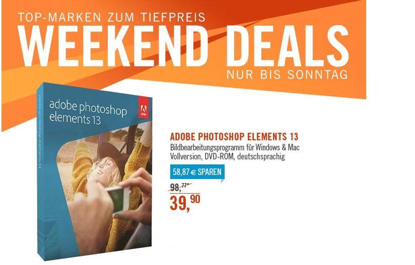 Adobe Photoshop Elements 13 Mac/Win für39,90€ bei den Cyberport Weekend Deals