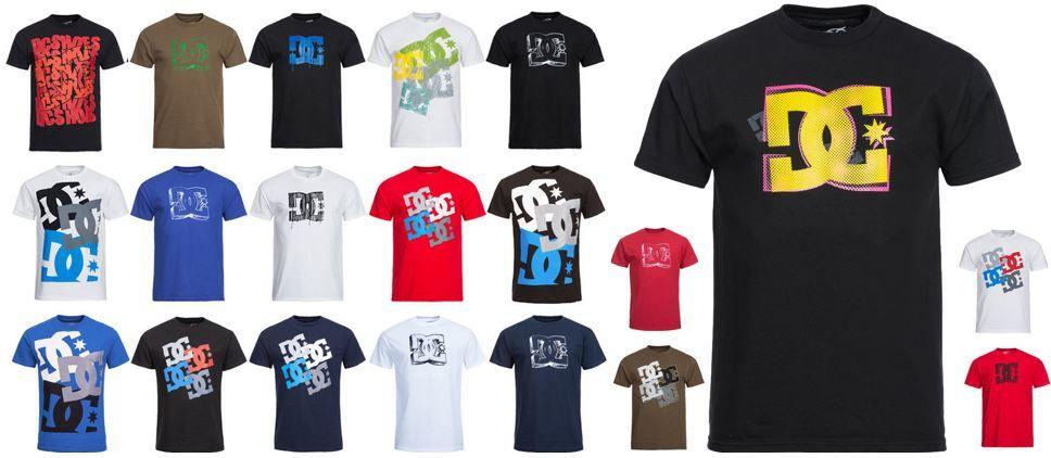DC Shoes   Herren Motiv T Shirts in 20 Varianten für je 7,99€