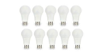 10er Pack Daylite LED Lampe E27 9,5W für 24,45€