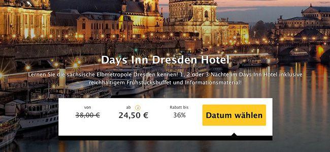 1 Übernachtung in Dresden im 3 Sterne Hotel mit Frühstück ab 24,50€ p.P.