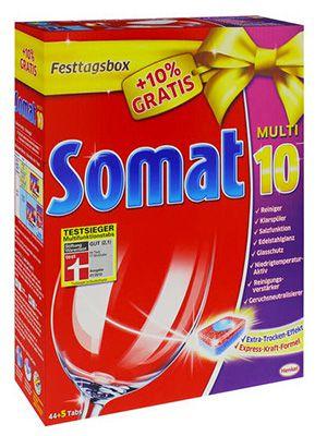 Doppelpack Somat Multi 10 Spülmaschinen Tabs (2 x 44+5) für 12,99€
