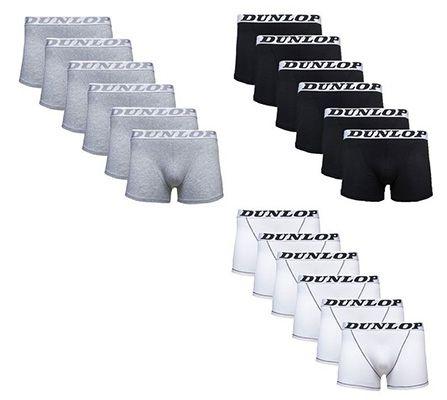 Dunlop Boxershorts Dunlop Boxershorts   6er Pack in Weiß, Schwarz oder Grau für je 9,99€