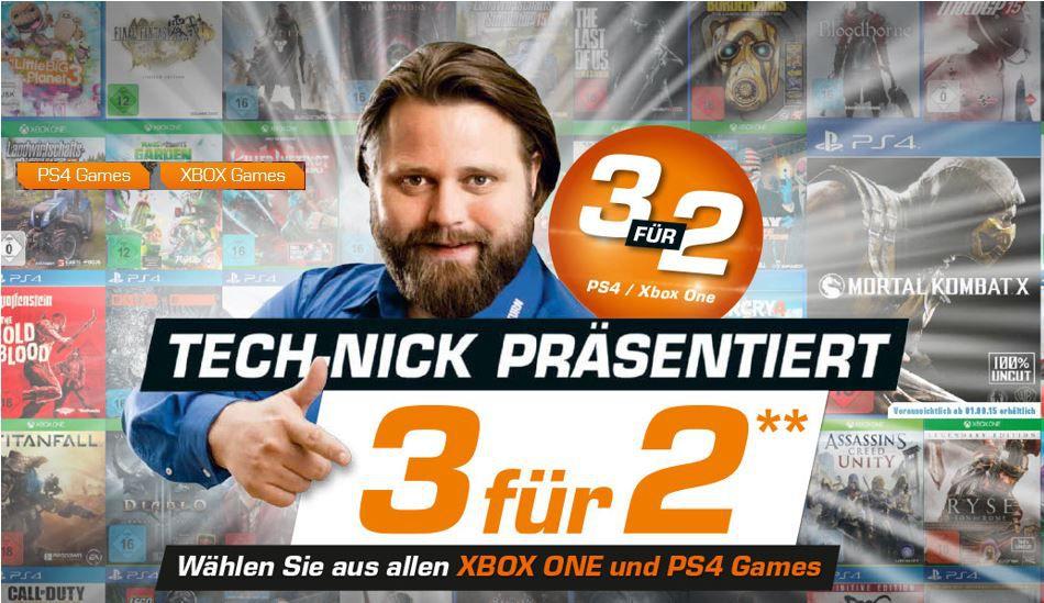 SATURN: 3 Games für PS 4 oder XBox one zum Preis von 2!