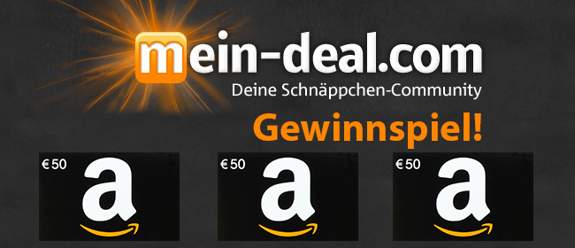 Gewinner! Wir verlosen drei 50€ Amazon Gutscheine unter allen Newsletter Abonnenten