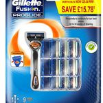 Gillette Fusion Proglide Flexball Rasierer + 10 Klingen ab 25,99€ (statt 40€)