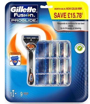 Gillette Fusion Proglide Flexball Gillette Fusion Proglide Flexball Rasierer + 10 Klingen ab 25,99€ (statt 40€)