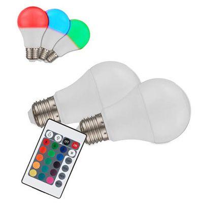 Globo LED E27 2er Set Globo LED E27 RGB Leuchtmittel mit Fernbedienung für 24,95€