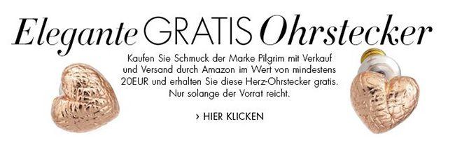Gratis Ohrstecker Schmuck von Pilgrim im Wert von 20€ kaufen und gratis Ohrstecker bekommen