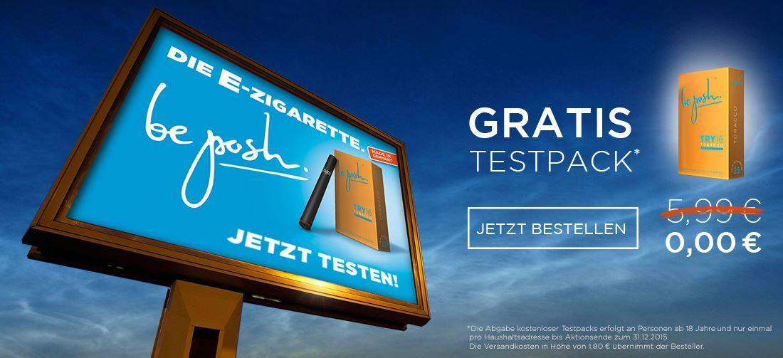 Gratis Testpack be posh   kostenloses Testpack e Zigaretten   VSK fallen an 1,80€