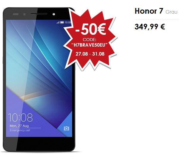 Ankündigung: Huawei Honor 7   nur am 28.10. statt 349€ mit Gutschein für nur 299€