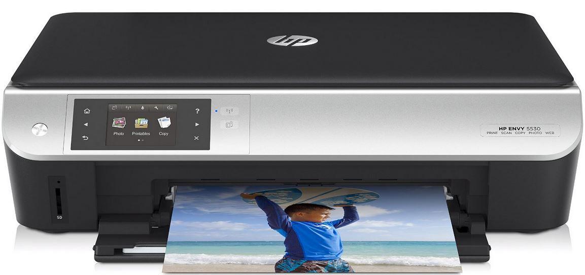HP Envy 5530 eAIO Tintenstrahl Multifunktionsgerät   Scanner, Kopierer, Drucker, WiFi für 59€