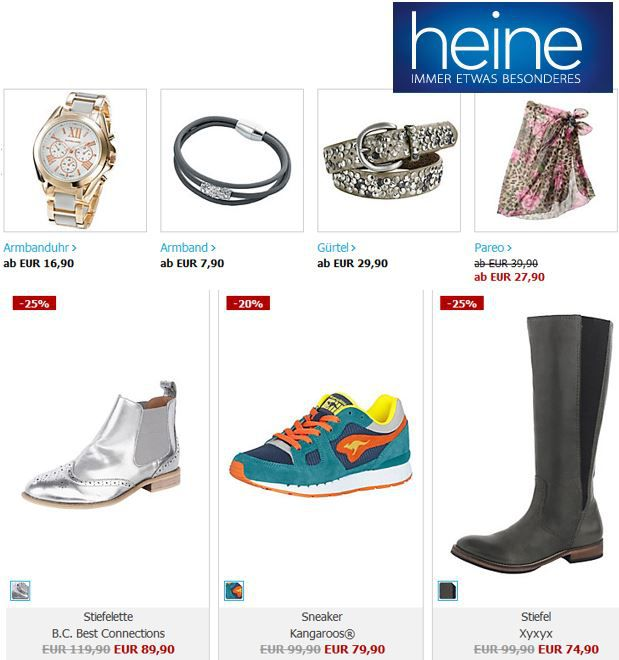 heine Online Shop mit mind. 30% Rabatt im Sale