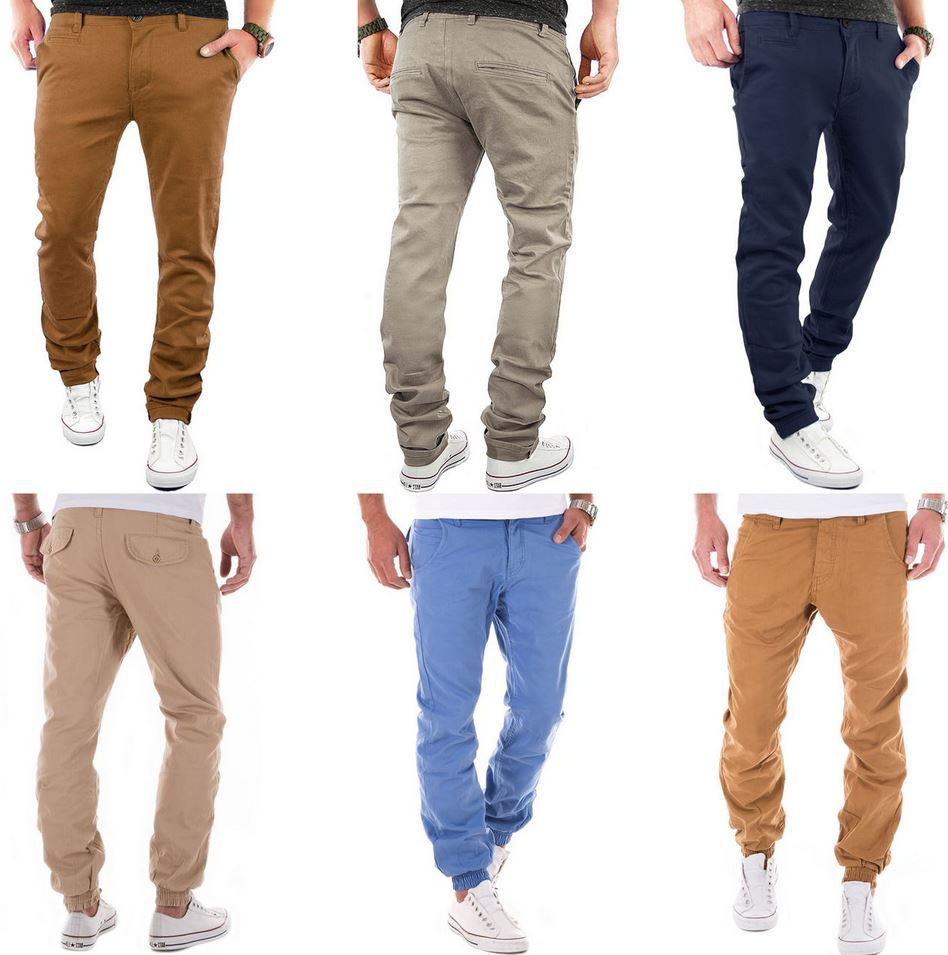 Herren Chino Angebot MERISH Joggchino Regular & Chino Slim Fit Herren Hosen für je 17,90€