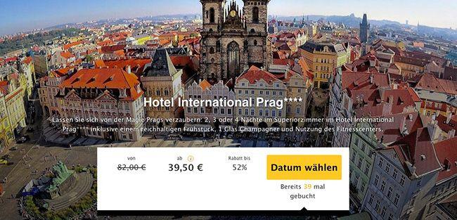 Prag: 2 Übernachtungen im 4 Sterne International Prag Hotel + Frühstück ab 39,50€ p.P.