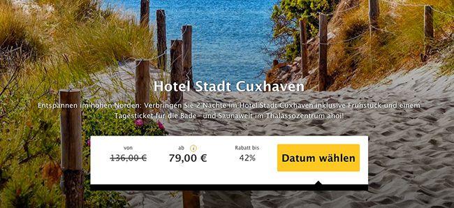 Hotel Stadt Cuxhaven 2 Nächte Cuxhaven im 3 Sterne Hotel mit Frühstück + 1 Tag Saunawelt ab 79€ p.P.