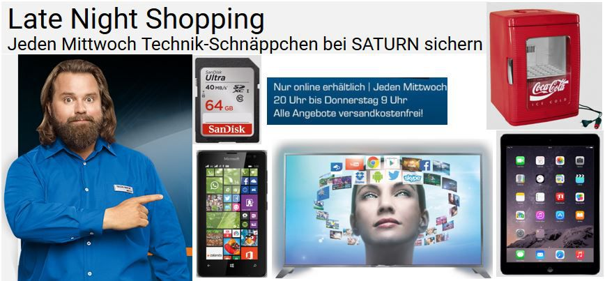 Ipad Air Gutschein MICROSOFT Lumia 532 Dual SIM ab 64€ im Saturn Late Night Shopping