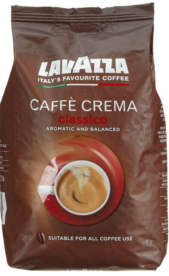 Lavazza Cafe Crema Classico 1kg + 10% mehr Inhalt für 8,99€ (statt 13€)