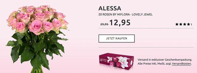 Alessa Blumenstrauß mit 20 Lovely Jewel Rosen für 17,90€