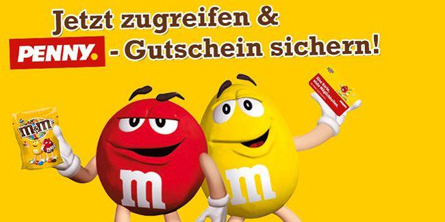 M&Ms im Wert von bis zu 10€ effektiv kostenlos dank Penny Gutschein