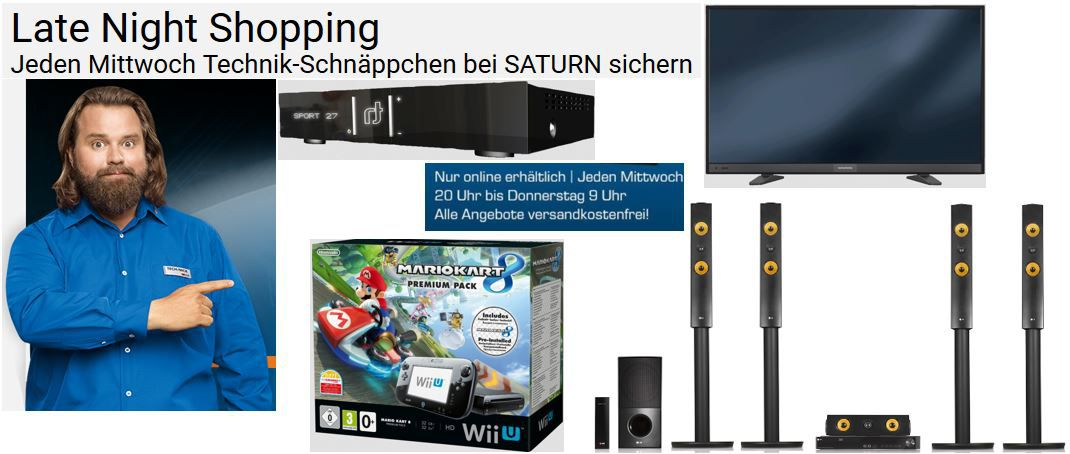 LG LHA855W   5.1 Homecinema System + 6 Monate Maxdome für 494€ im Saturn Late Night Shopping