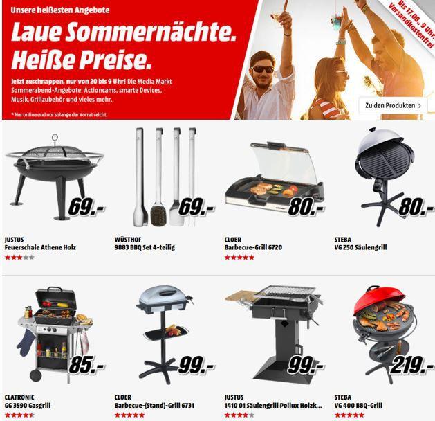 JUSTUS  Pollux   Holzkohle Säulengrill statt 159€ für 99€   MediaMarkt Grillgeräte & Lautsprecher Aktion