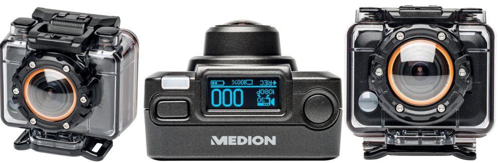 MEDION LIFE S47018 MD 87205   5MP Full HD WLAN Action Camcorder für nur 66€