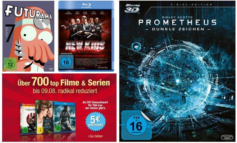 700 Top Filme & Serien reduziert mit 5€ sofort Rabatt ab 29€ MBW und mehr Amazon DVD oder Blu ray Angebote