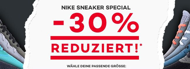 30% Rabatt auf Nike Sneaker bei Planet Sports + mehrere Gutscheine