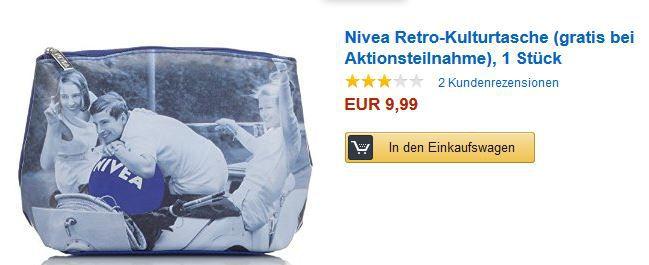 Nivea Retro Kulturtasche kostenlos ab einem Einkauf von 10€ bei Pflegeprodukten