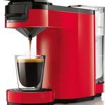 Philips Senseo HD7880/80 Up – rote Kaffeepadmaschine mit Direktstart Funktion für nur 49,99€